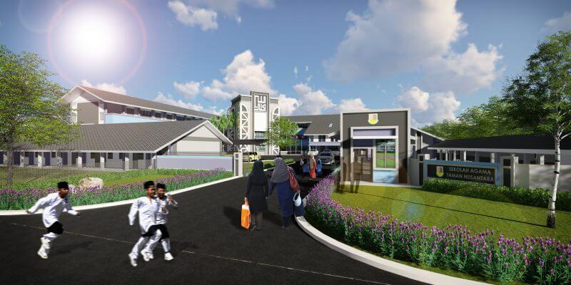 Majlis Perasmian Pembinaan Sekolah Agama Kerajaan Johor (SAKJ) Fasa 5